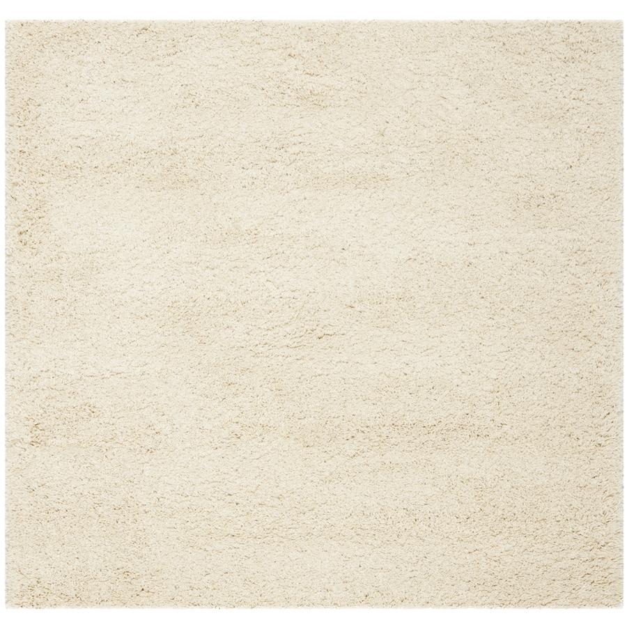 Safavieh California Shag Ivory Square Indoor Area Rug (Common: 4 x 4; Actual: 4-ft W x 4-ft L)