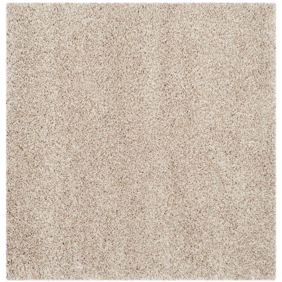 Safavieh California Shag Beige Square Indoor Machine-Made Area Rug (Common: 4 x 4; Actual: W x L x 0-ft Dia)