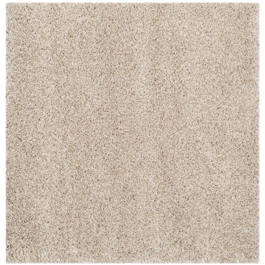 Safavieh California Shag Beige Square Indoor Machine-made Area Rug (Common: 9 x 9; Actual: 8.5-ft W x 8.5-ft L)