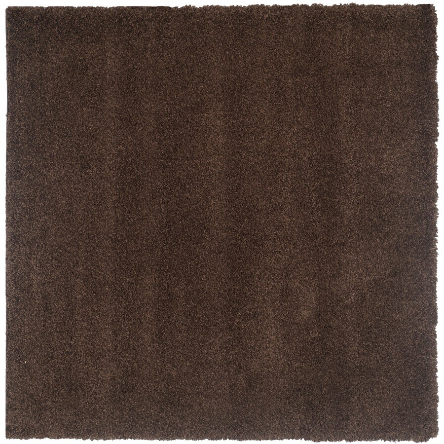 Safavieh California Shag Brown Square Indoor Area Rug (Common: 4 x 4; Actual: 4-ft W x 4-ft L)