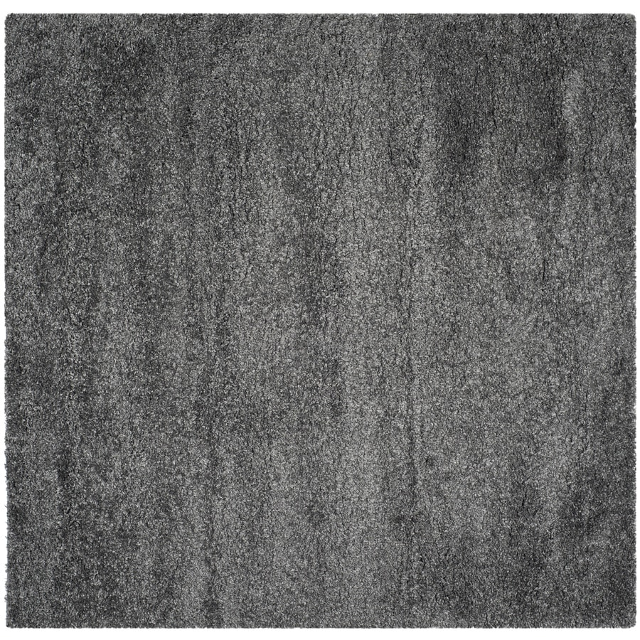 Gentil Safavieh California Shag Dark Gray Square Indoor Area Rug (Common: 9 X 9;
