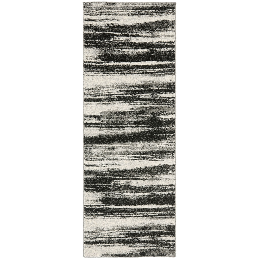 Safavieh Retro Fissure Dark Gray/Light Gray Rectangular Indoor Machine-made Distressed Runner (Common: 2 x 9; Actual: 2.25-ft W x 9-ft L)