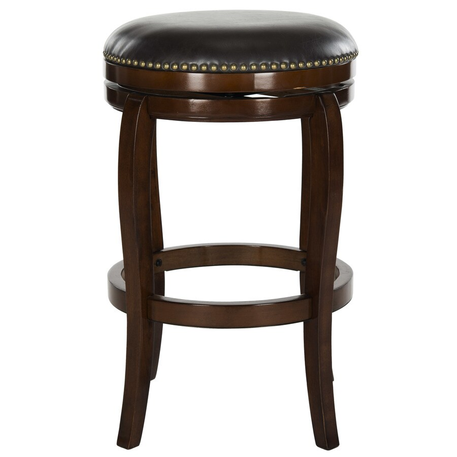 Safavieh Nuncio Modern Espresso/Brown Seat Bar Stool