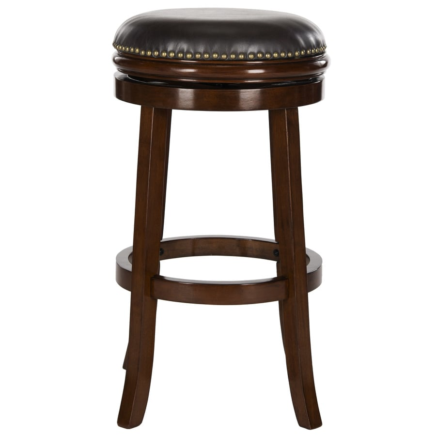 Shop Safavieh Biagio Modern EspressoBrown Seat Bar Stool  : 683726703228 from www.lowes.com size 900 x 900 jpeg 75kB