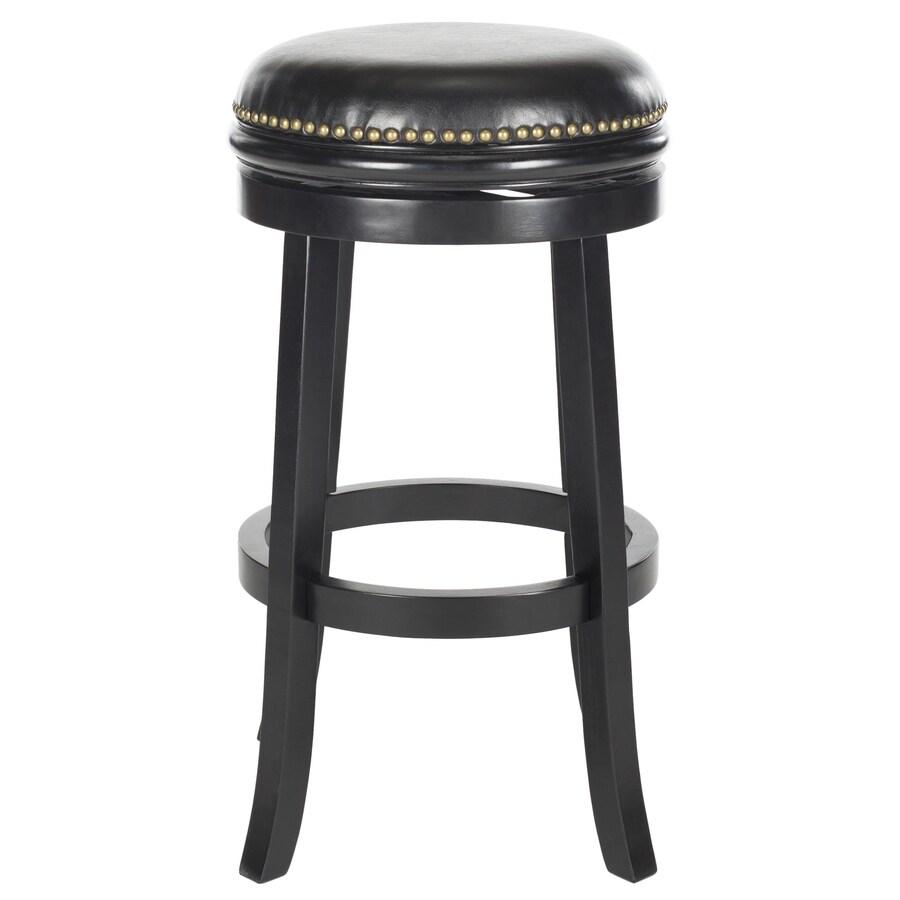 Safavieh Fox Black/Black Seat 29-in Bar Stool (27-in to 35-in)