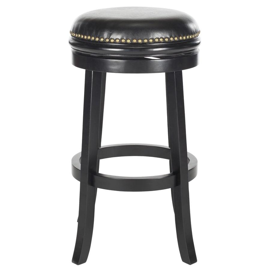 Shop Safavieh Biagio Modern Black Black Seat Bar Stool At