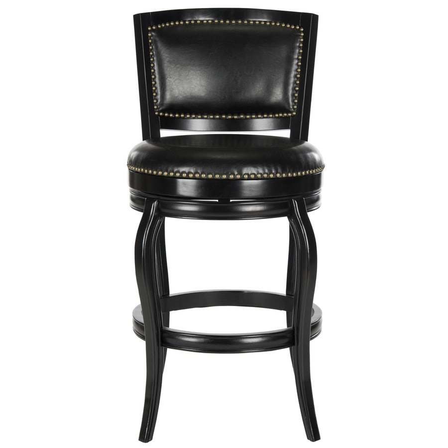 Safavieh Pasquale Black/Black Seat 29-in Bar Stool (27-in To 35-in)