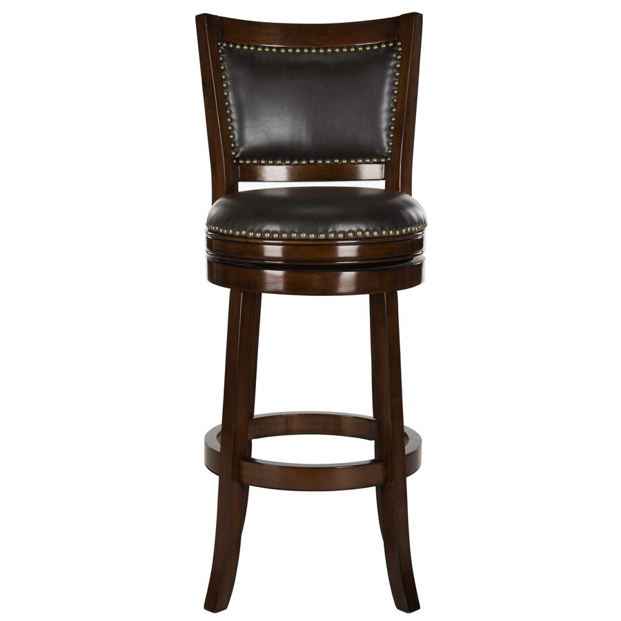Safavieh Lazzaro Espresso Brown Seat Bar Stool At Lowes Com