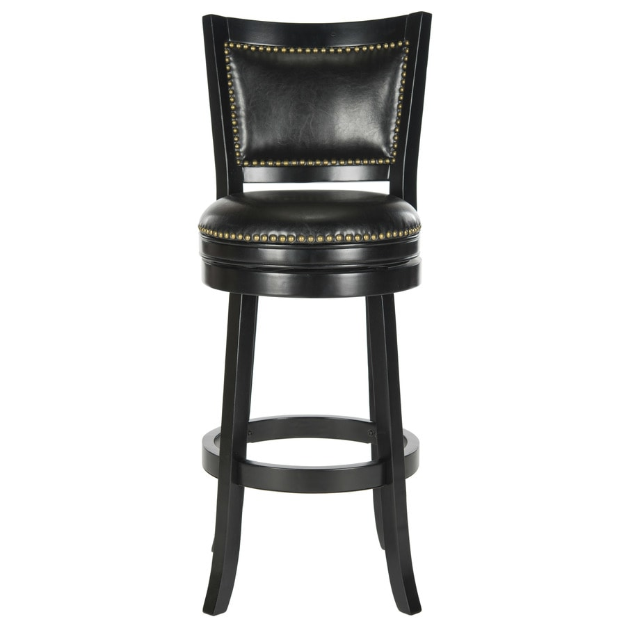 Safavieh Lazzaro Modern Black/Black Seat Bar Stool