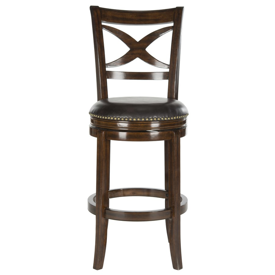 Safavieh Fox Espresso/Brown Seat 29-in Bar Stool (27-in to 35-in)