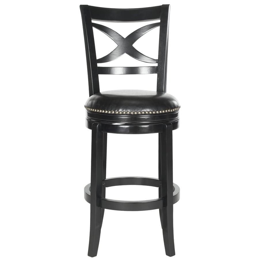 Safavieh 1 Fox Black/Black Seat 29-in Bar Stool (27-in to 35-In)