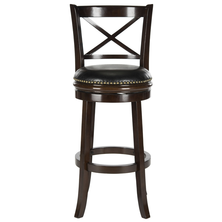 Safavieh Fox Brown/Black Seat 29-in Bar Stool (27-in to 35-in)