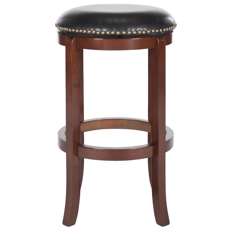 Shop Safavieh Elwood Modern Cherry Black Bar Stool At