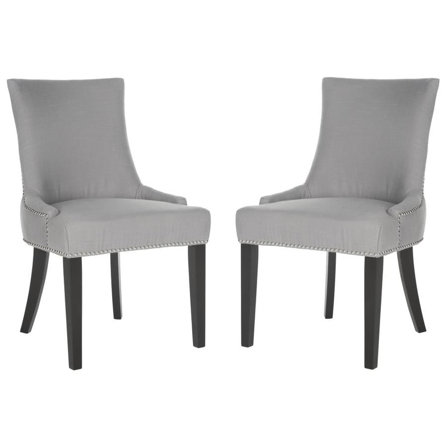 Safavieh Set of 2 Mercer Artic Gray Side Chairs