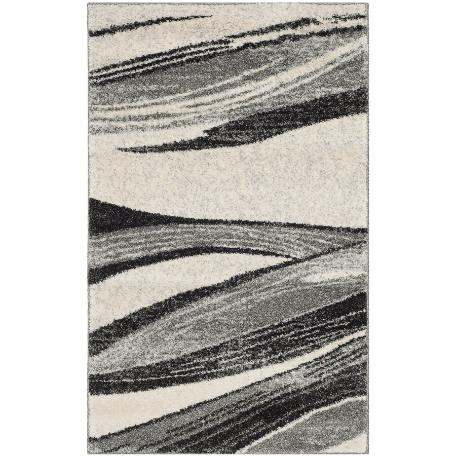 Safavieh Retro Pacifica Gray/Ivory Rectangular Indoor Machine-made Distressed Throw Rug (Common: 3 x 5; Actual: 3-ft W x 5-ft L)