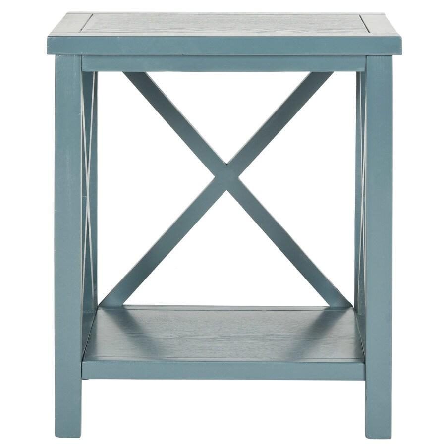Safavieh Christa Slate Teal Pine End Table