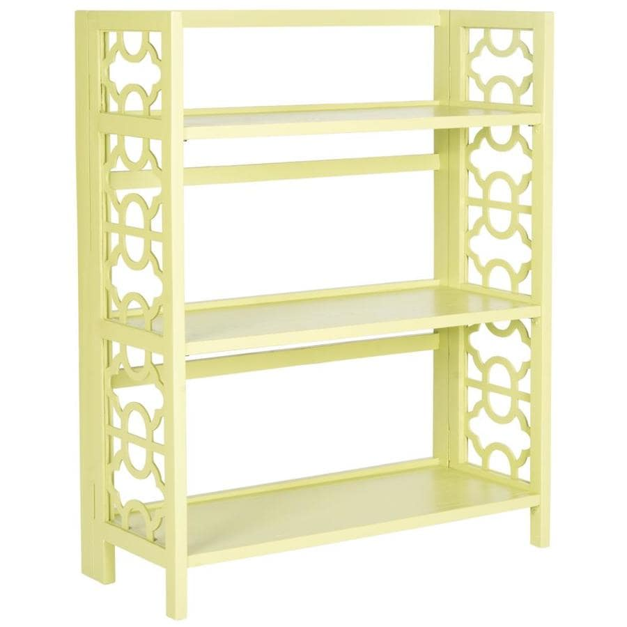 Safavieh 42.5-in H x 33.5-in W x 13.4-in D 3-Tier Wood Freestanding Shelving Unit