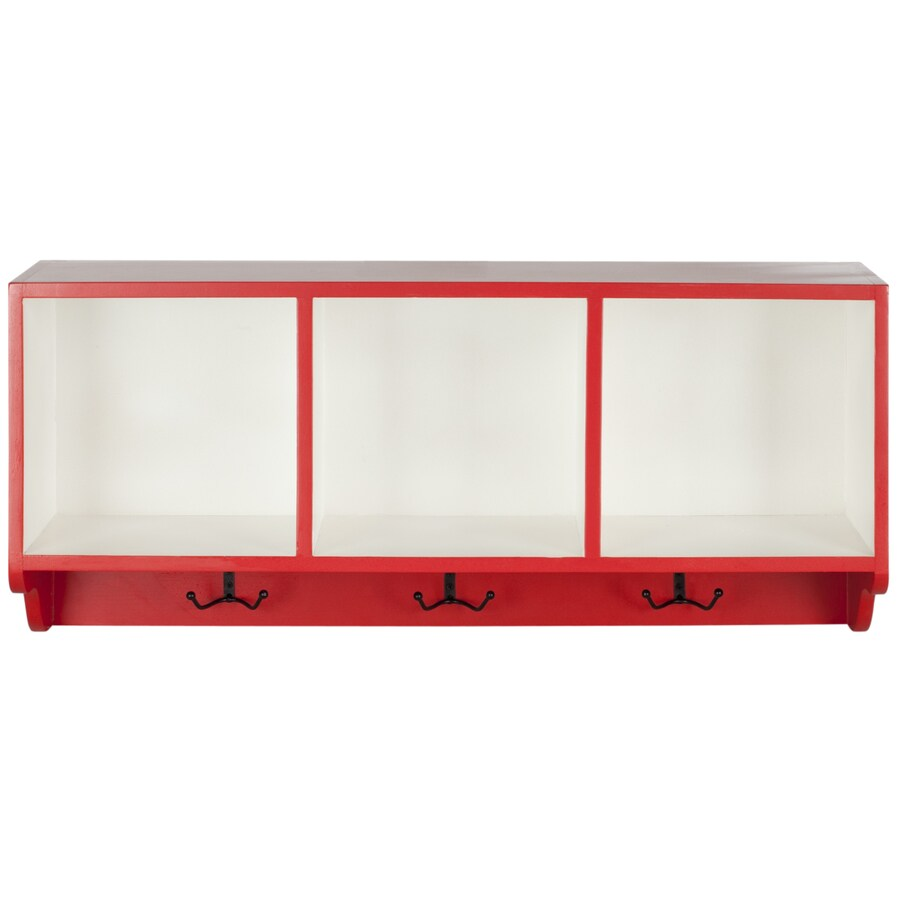 Safavieh American Home Hot Red/White 33.5-in W x 15-in H x 9.1-in D Bookcase