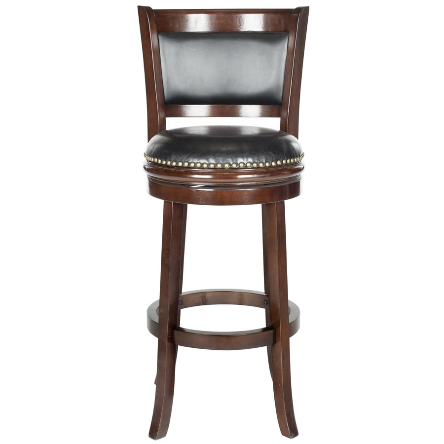 Safavieh Fox Brown/Black Seat 29-in Bar Stool (27-in to 35-in)