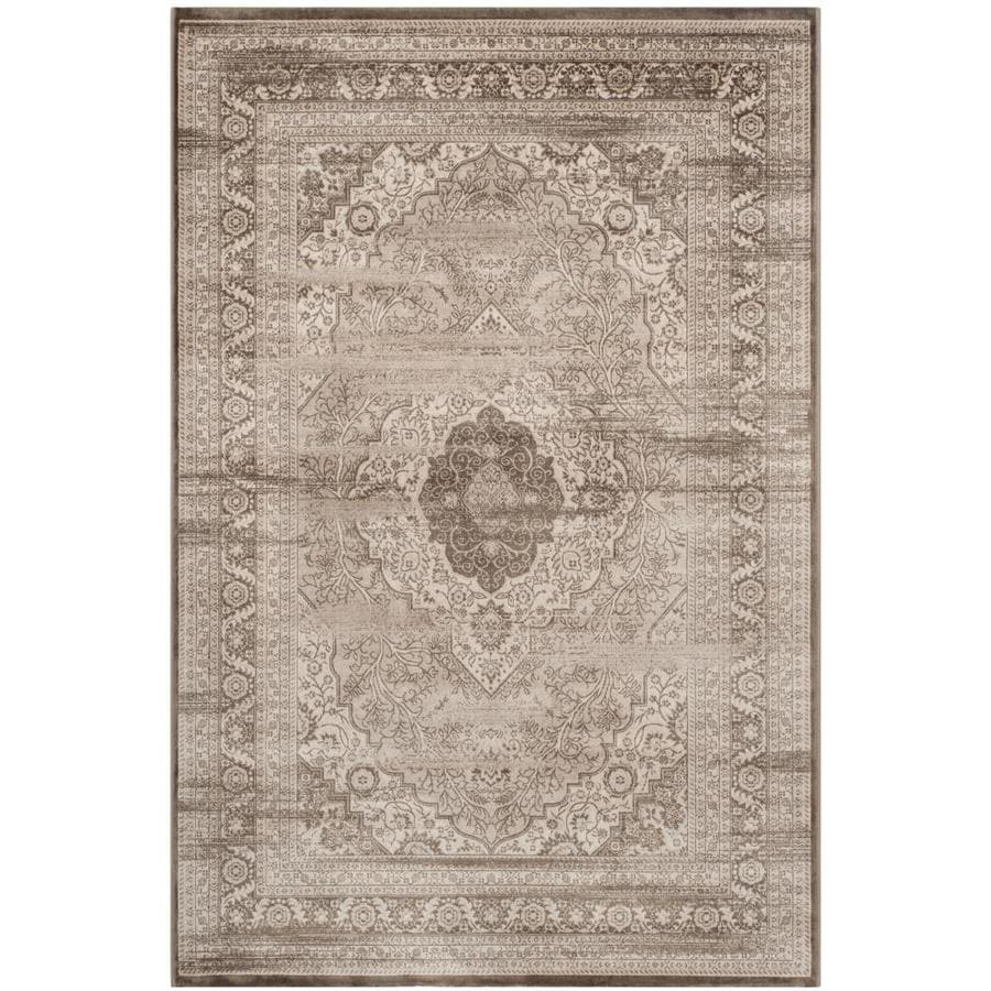 Safavieh Vintage Beige/Light Brown Rectangular Indoor Machine-Made Distressed Area Rug (Common: 5 x 7; Actual: 5.083-ft W x 7.5-ft L)