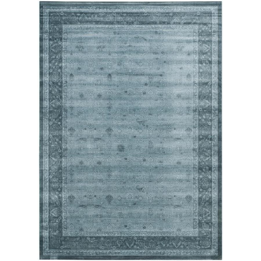 Safavieh Vintage Peshwar Light Blue/Dark Blue Indoor Distressed Area Rug (Common: 9 x 12; Actual: 9-ft W x 12-ft L)