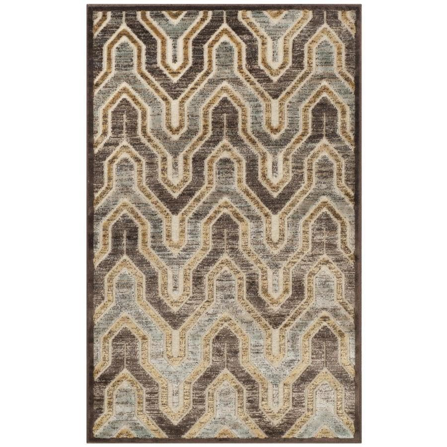 Safavieh Paradise Jasper Crme/Brown Indoor Distressed Throw Rug (Common: 2 x 4; Actual: 2.6-ft W x 4-ft L)