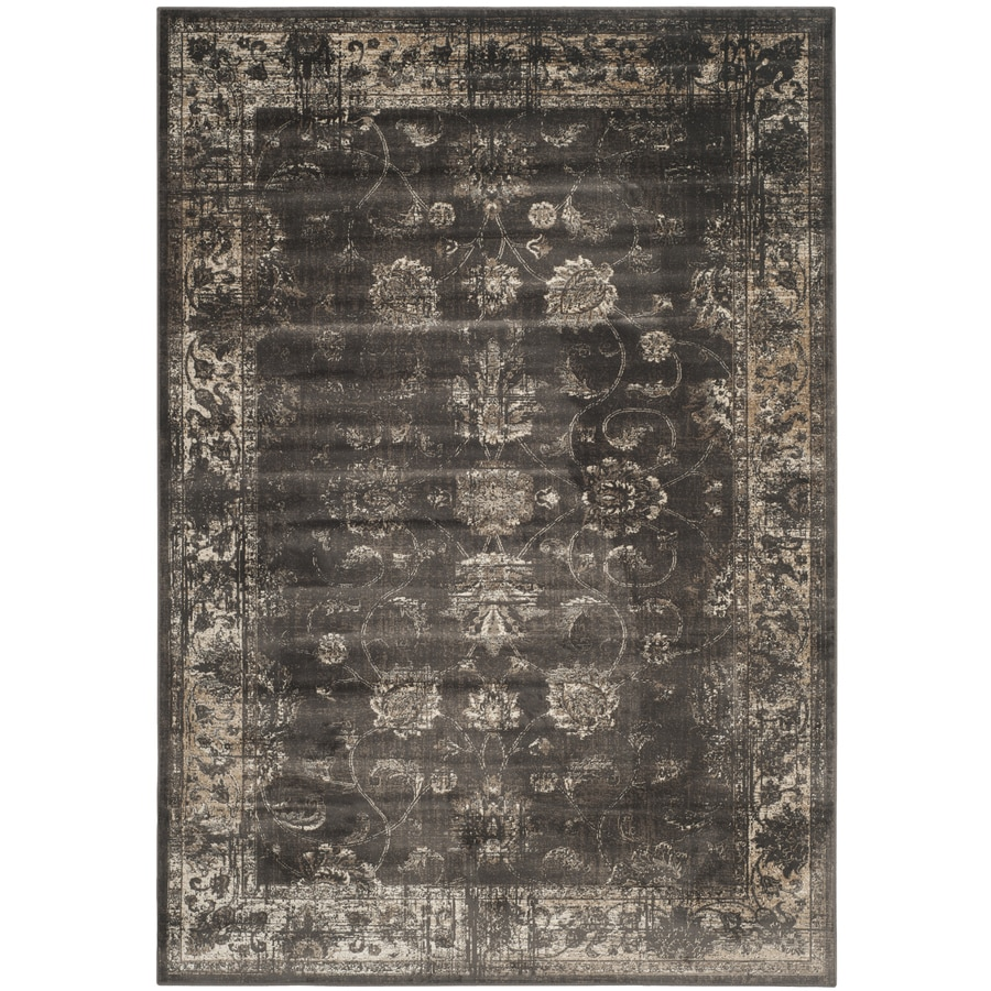 Safavieh Vintage Mosed Soft Anthracite Rectangular Indoor Machine-made Distressed Area Rug (Common: 10 x 14; Actual: 11-ft W x 15-ft L)