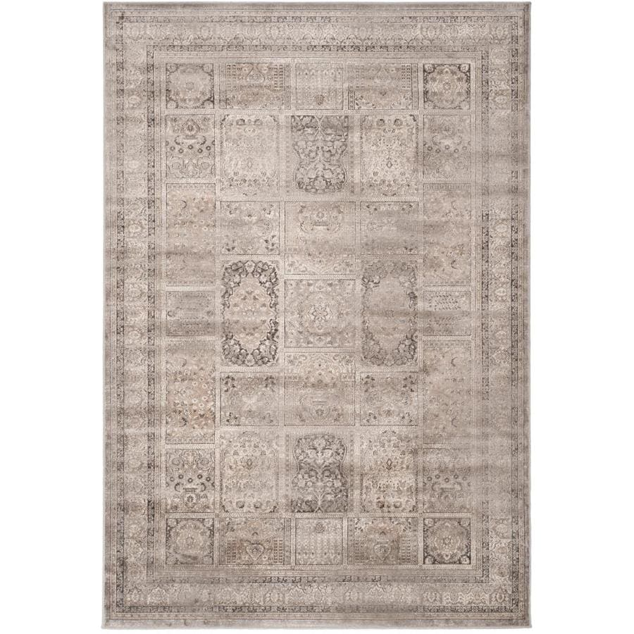 Safavieh Vintage Mouse Rectangular Indoor Machine-Made Distressed Area Rug (Common: 10 x 14; Actual: 10-ft W x 14-ft L x 0-ft Dia)