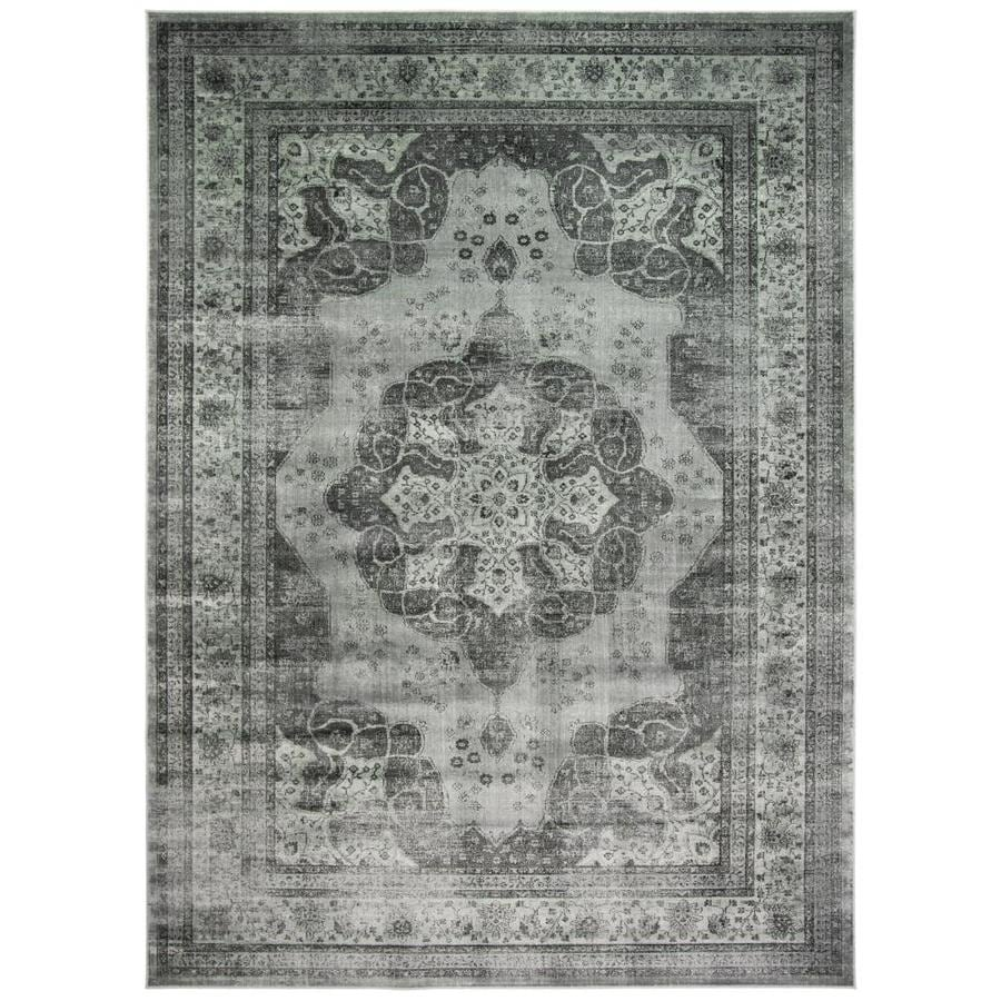 Safavieh Vintage Kerman Gray/Multi Rectangular Indoor Machine-made Distressed Area Rug (Common: 10 x 14; Actual: 11-ft W x 15-ft L)