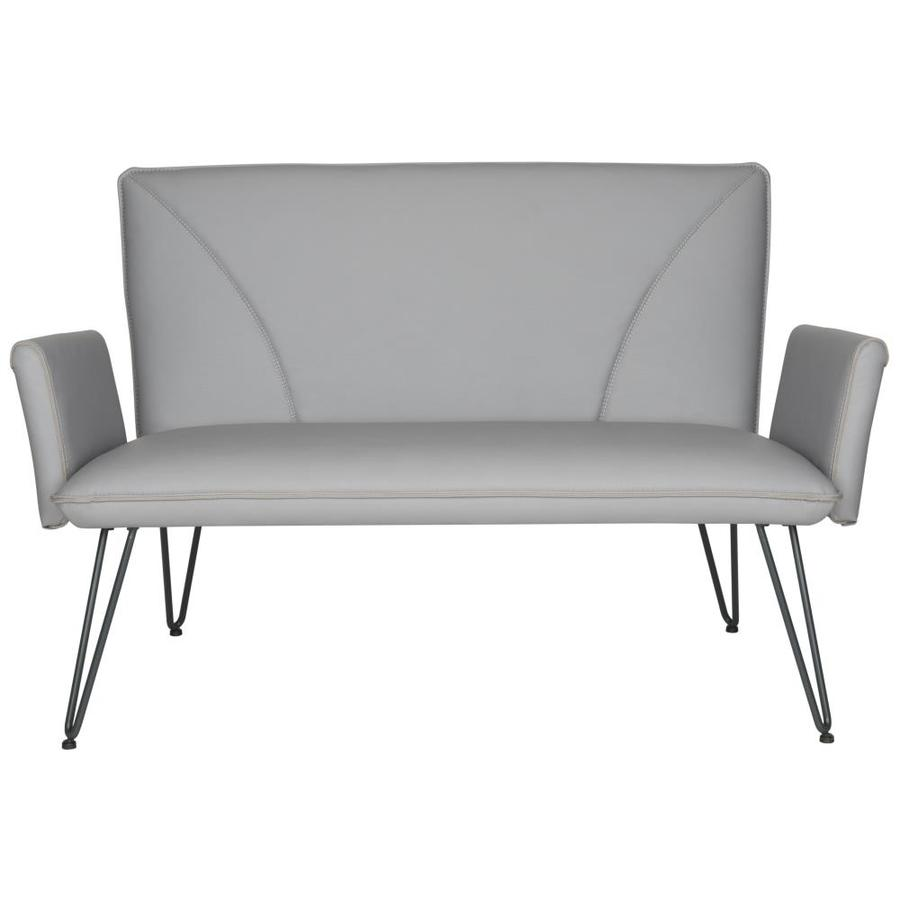 Safavieh Fox Gray/Silver Bicast Leather Loveseat