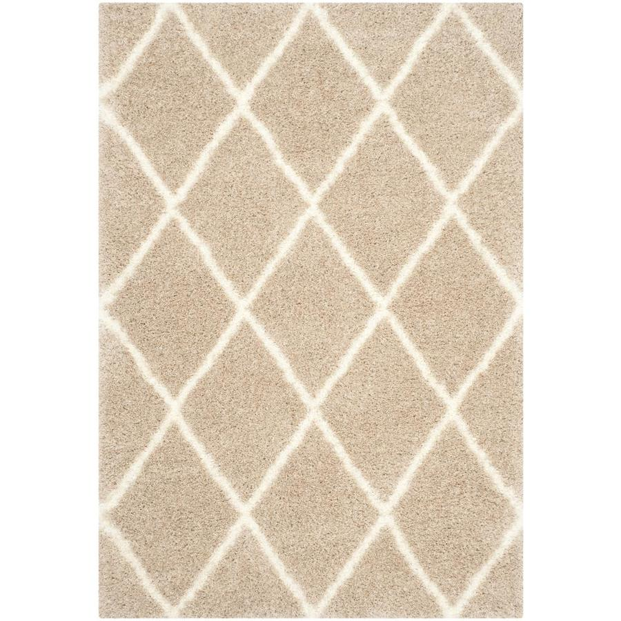 Safavieh Montreal Laval Shag Beige/Ivory Rectangular Indoor Area Rug (Common: 4 x 6; Actual: 4-ft W x 6-ft L)