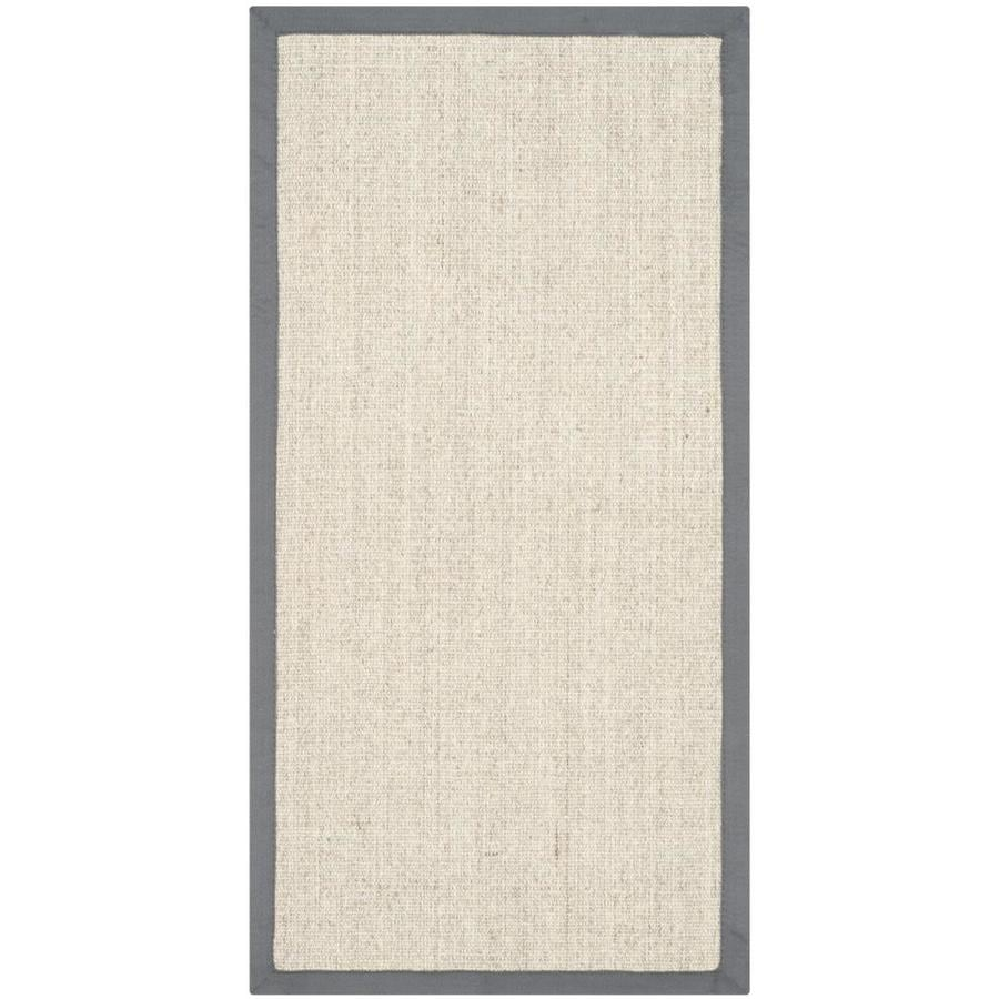 Safavieh Natural Fiber Saltaire Marble/Gray Indoor Coastal Throw Rug (Common: 2 x 3; Actual: 2-ft W x 3-ft L)