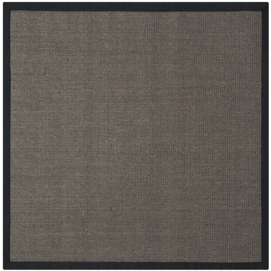 Safavieh Natural Fiber Saltaire Charcoal Square Indoor Coastal Area Rug (Common: 4 x 4; Actual: 4-ft W x 4-ft L)