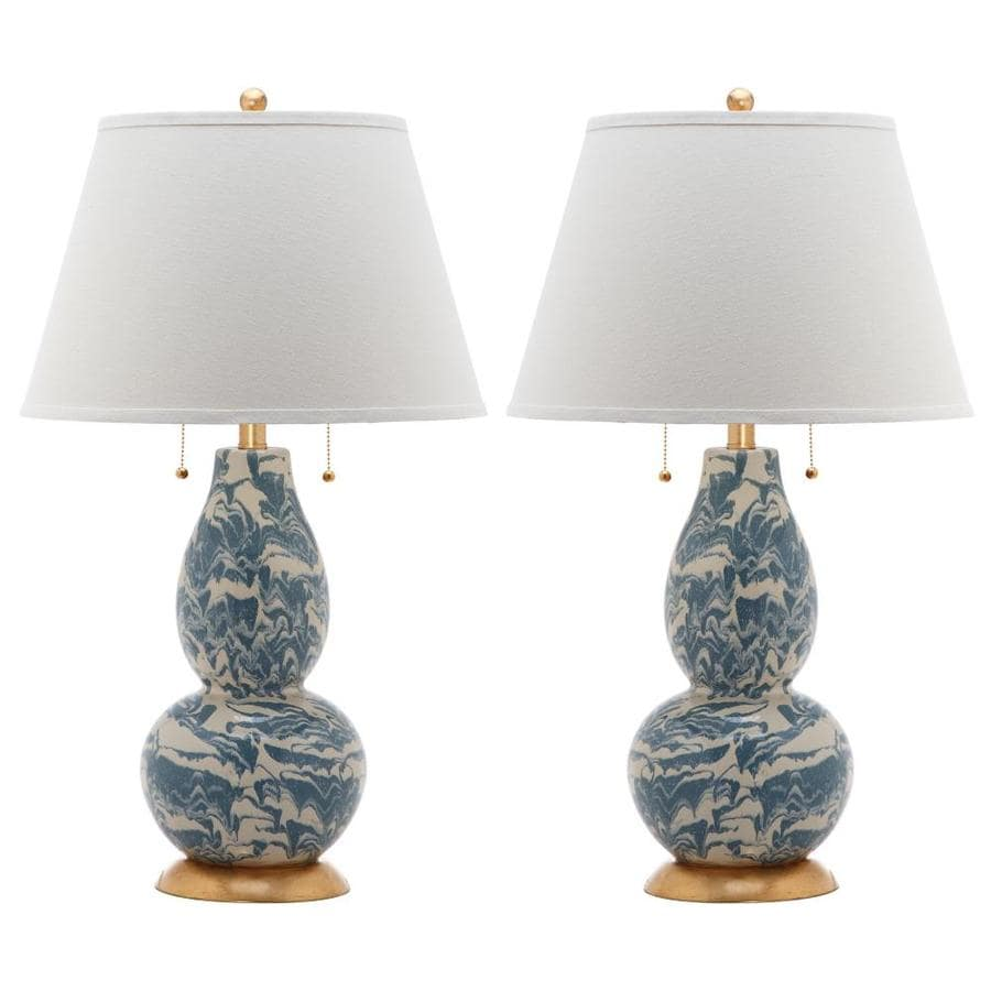 Safavieh Color Swirls 2 Piece Lamp Set With Off White
