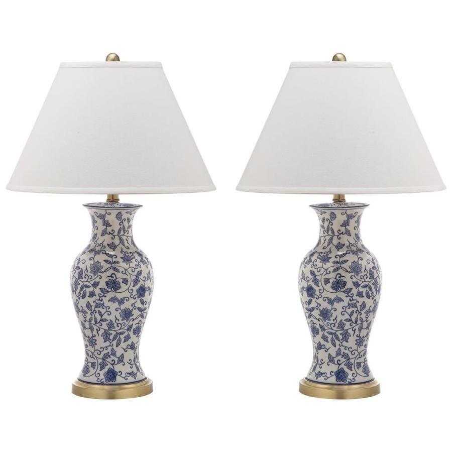 Shop safavieh beijing 2 piece asian lamp set with off white shades safavieh beijing 2 piece asian lamp set with off white shades aloadofball Image collections
