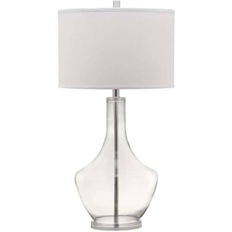 Safavieh Mercury 35-in Clear Rotary Socket Table Lamp with Fabric Shade
