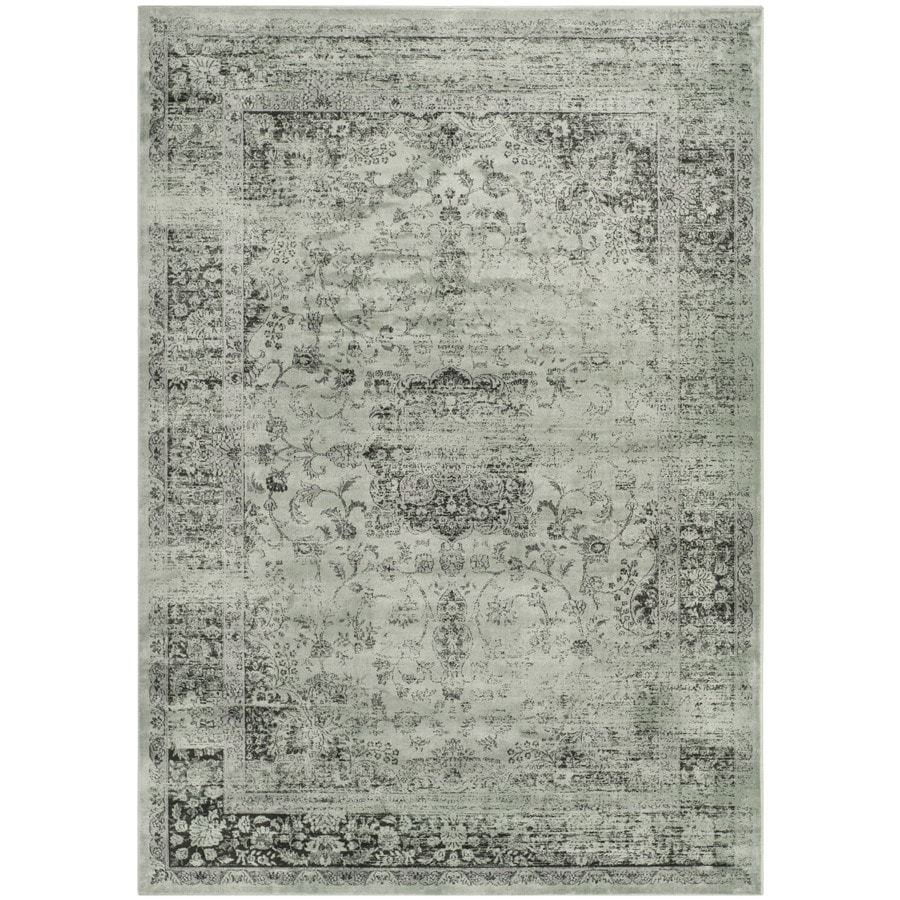 Safavieh Vintage Alhia Spruce/Ivory Indoor Distressed Area Rug (Common: 5 x 8; Actual: 5.25-ft W x 7.5-ft L)