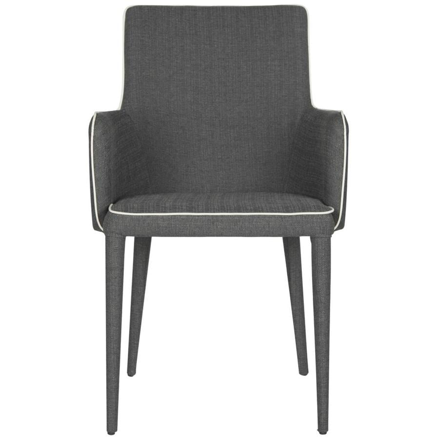 Safavieh Summerset Casual Gray/White Faux Leather Accent Chair
