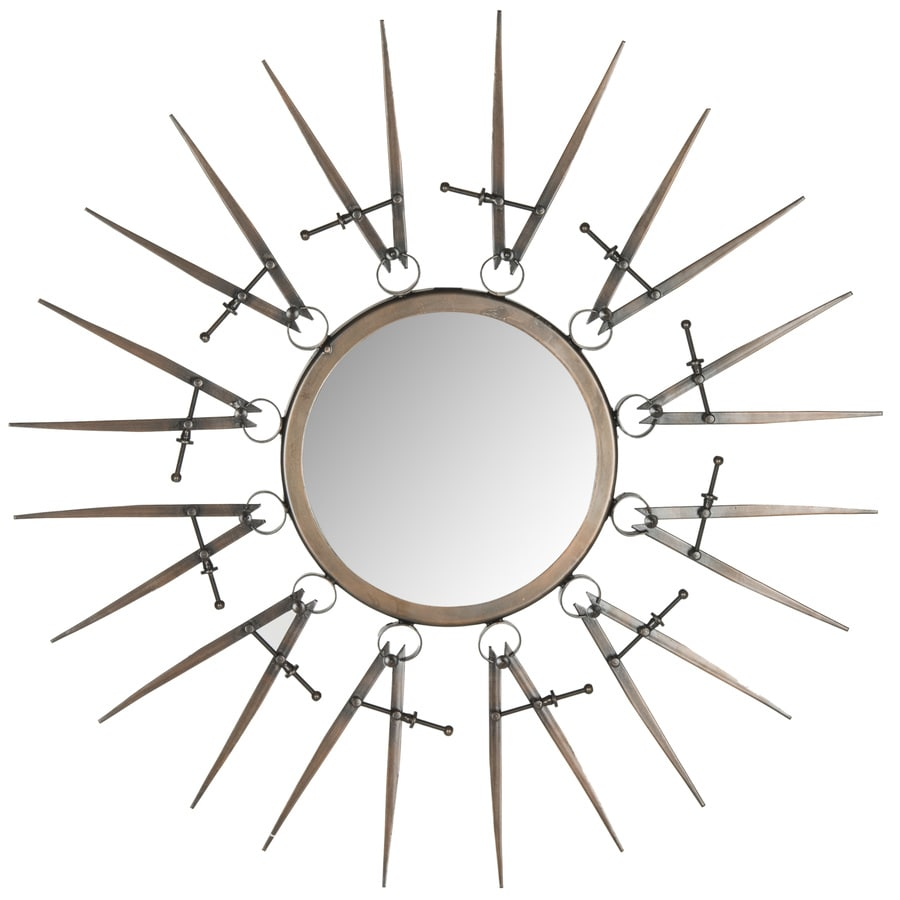 Safavieh Compass Point Antique Copper Polished Round Wall Mirror
