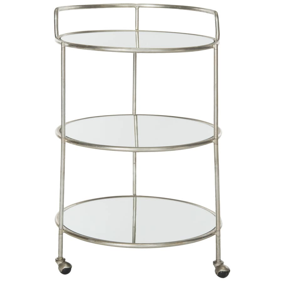 Safavieh Dulcinea 22-in x 35.4-in Round Cart Bar