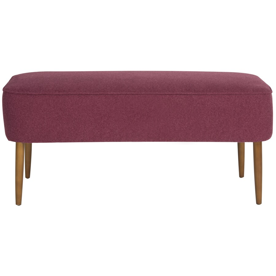 Safavieh Levi Transitional Maroon Accent Bench