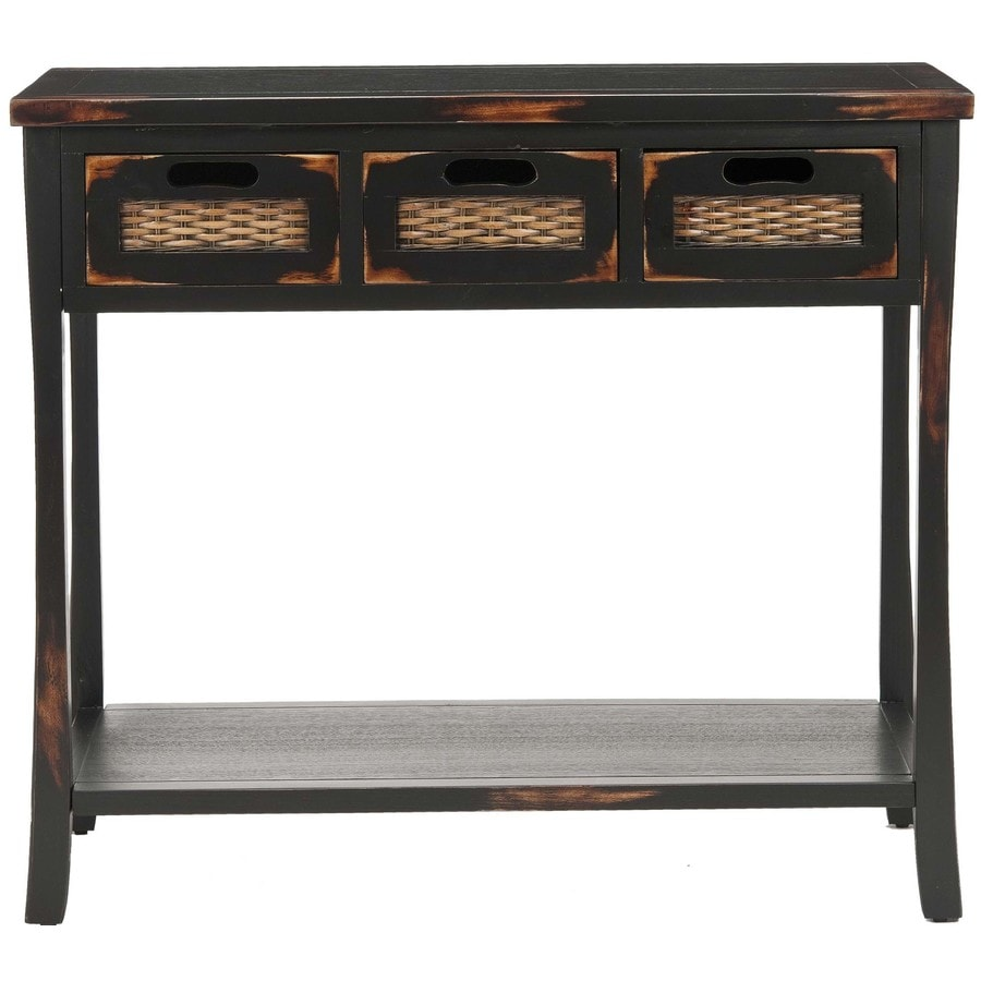 Safavieh Autumn Distressed Black Pine Console Table