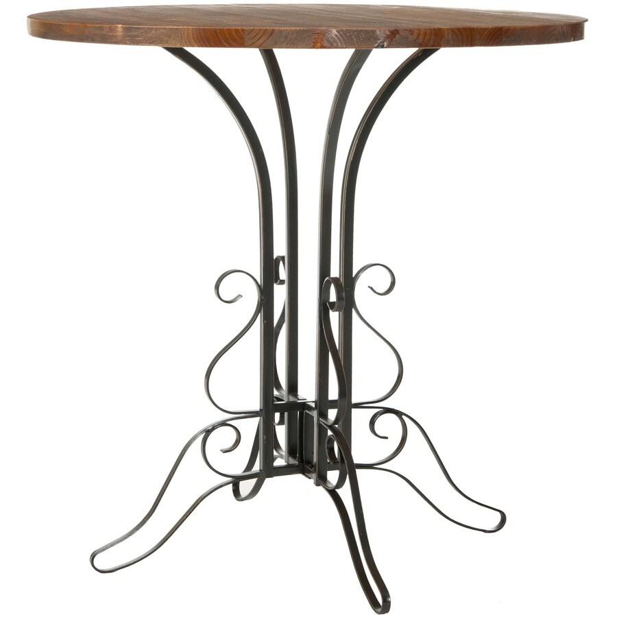 Safavieh American Home Black Iron Fir Round Coffee Table