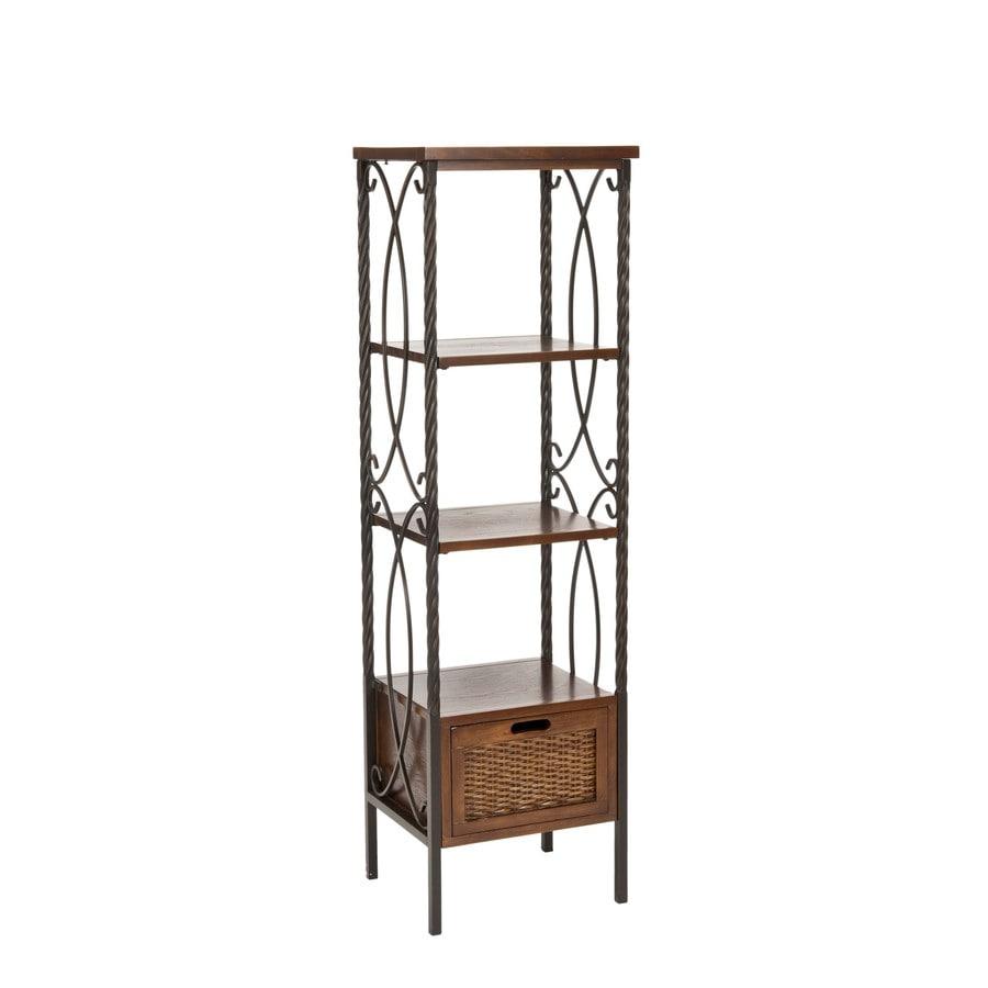 Safavieh 57.5-in H x 17-in W x 14-in D 3-Tier Wood Freestanding Shelving Unit