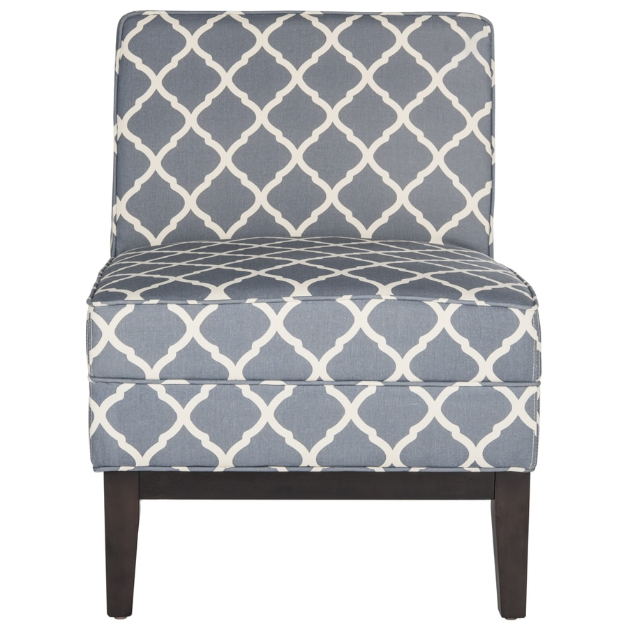 Safavieh Armond Casual Navy Linen Accent Chair