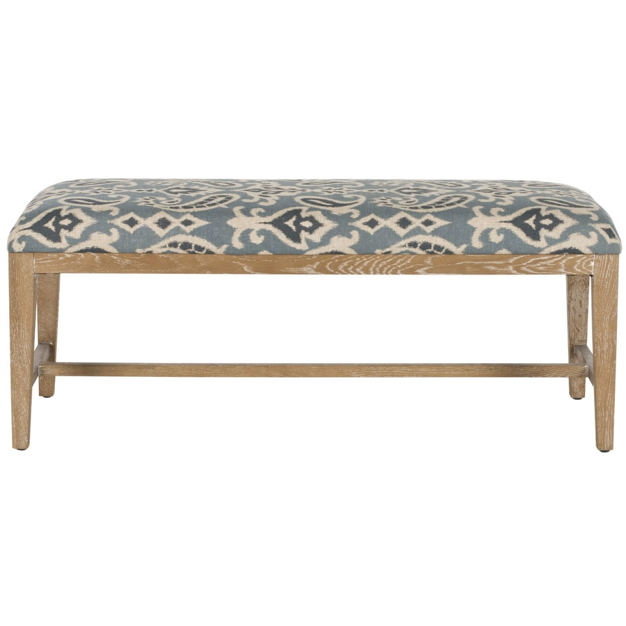 Safavieh Zambia Contemporary Blue Accent Bench