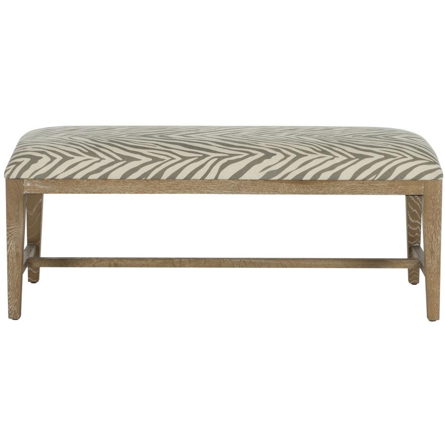Safavieh Zambia Modern Gray Zebra/White Wash Accent Bench