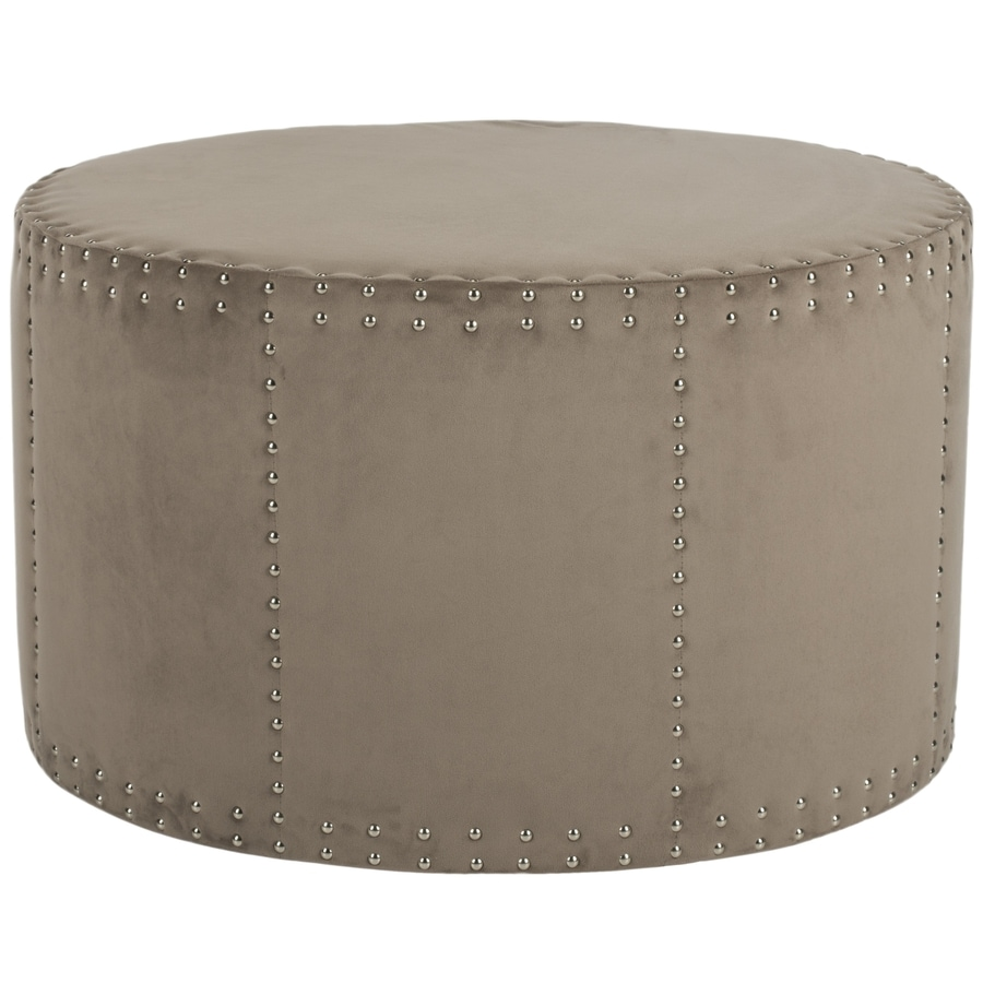 shop safavieh mercer sherri ottoman mushroom taupe at. Black Bedroom Furniture Sets. Home Design Ideas