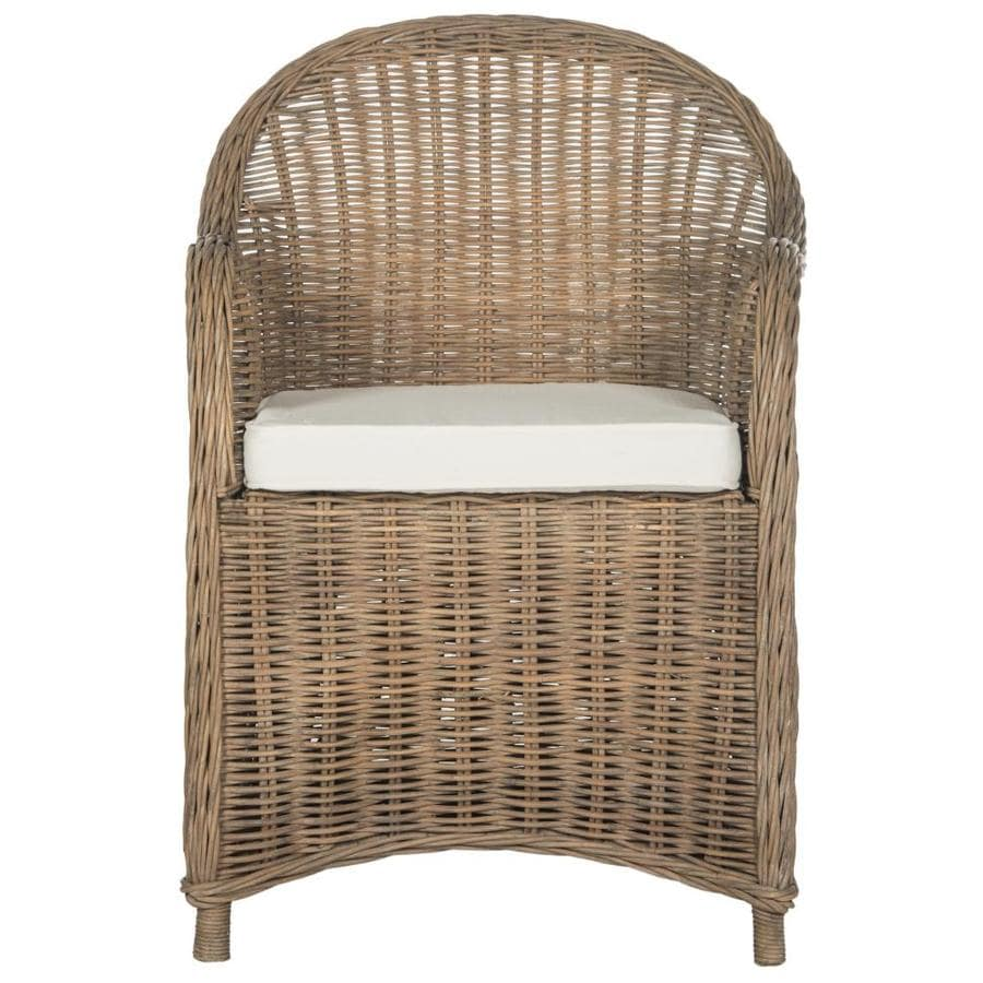 Safavieh Hemi Coastal Brown/White Accent Chair