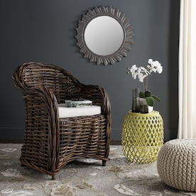 Safavieh Bates Coastal Black White Accent Chair In The Chairs Department At Lowes Com